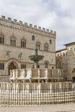 Fontana Maggiore in Perugia Stock Image
