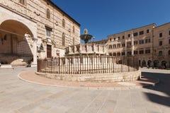Fontana Maggiore, Perugia, Italy Royalty Free Stock Photos