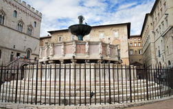 Fontana Maggiore. Perugia. Umbria. Royalty Free Stock Photo