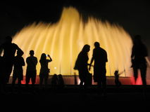 Fontana magica Fotografie Stock Libere da Diritti