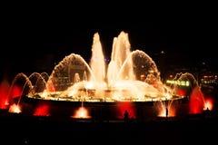 Fontana magica a Barcellona Fotografia Stock Libera da Diritti