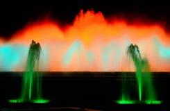 Fontana magica di Montjuic Immagini Stock Libere da Diritti
