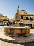 Fontana medievale Fotografie Stock Libere da Diritti