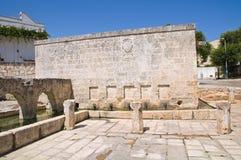Fontana medievale Laterza La Puglia L'Italia Immagini Stock Libere da Diritti