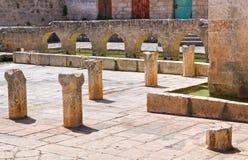 Fontana medievale Laterza La Puglia L'Italia Fotografie Stock Libere da Diritti