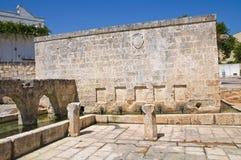 Fontana medievale Laterza La Puglia L'Italia Fotografie Stock