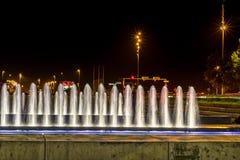 Fontana moderna a Zagabria Fotografia Stock Libera da Diritti