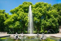 Fontana a Monaco di Baviera, Germania Parte della fontana del monumento di pace Immagine Stock Libera da Diritti