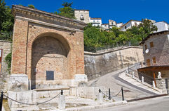 Fontana Muta. Alberona. Puglia. Italia. Imágenes de archivo libres de regalías