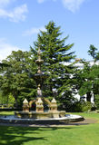Fontana nei giardini di Jephson Fotografie Stock Libere da Diritti