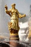Fontana nel centro di mostra di Mosca Fotografia Stock Libera da Diritti
