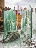 Fontana nel centro di Wroclaw, Polonia Immagini Stock