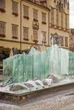 Fontana nel centro di Wroclaw, Polonia Fotografia Stock