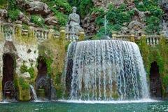 Fontana nel giardino del d'Este della villa Fotografia Stock