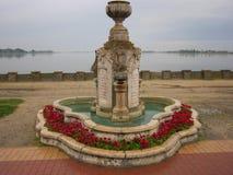 Fontana nel lago Palic fotografia stock libera da diritti