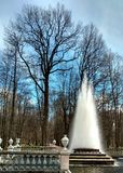 Fontana nel parco Fotografie Stock Libere da Diritti