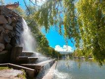Fontana nel parco Fotografia Stock