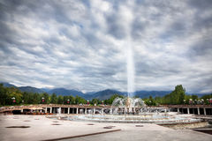 Fontana nel parco di Almaty Fotografie Stock