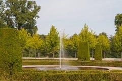 Fontana nel parco di Drottningholm immagine stock