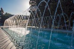Fontana nel parco di Sahil, correnti dell'acqua Fotografie Stock