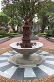 Fontana nel villaggio di Coloane in Taipa, Macao immagini stock