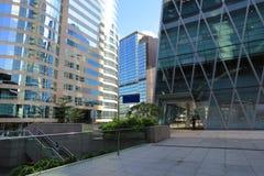 Fontana nell'alta vista del quarto di aumento in Hong Kong centrale Fotografie Stock