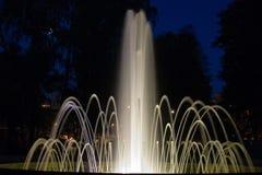 Fontana nella notte Fotografia Stock