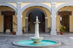 Fontana nella parte storica della città di Veracruz immagini stock libere da diritti