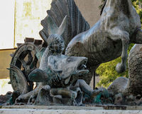 Fontana a Nettuno fotografie stock libere da diritti