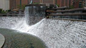 Fontana a Nicholas J Melas la plaza centennale in Chicago fotografia stock