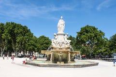 Fontana Nimes di Pradier Immagine Stock Libera da Diritti