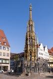 Fontana Nurnberg di Schoner Brunnen fotografie stock libere da diritti