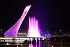 Fontana olimpica di Soci 2014 Immagine Stock