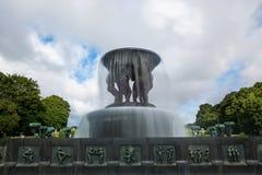 Fontana a Oslo Fotografie Stock Libere da Diritti