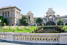 Fontana in Palais de Longchamp, Marsiglia immagine stock libera da diritti