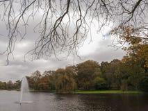 Fontana in parco Fotografia Stock