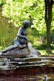 Fontana in parco Fotografia Stock Libera da Diritti