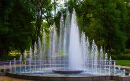 Fontana in parco Immagini Stock Libere da Diritti