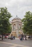 Fontana a Parigi Fotografia Stock