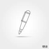 Fontana Pen Line Icon Fotografia Stock Libera da Diritti