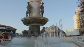 Fontana Philip della Macedonia a Skopje video d archivio