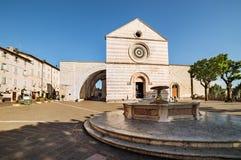 Fontana in Piazza del Comune assisi Fotografia Stock Libera da Diritti