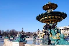 Fontana, Place de la Concorde. Immagini Stock