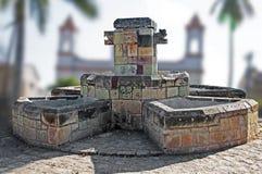 Fontana in plaza del ¡ n Ruinas di Copà Immagine Stock