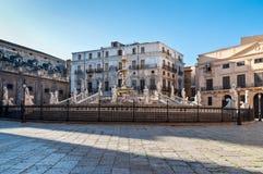 Fontana Pretoria em Palermo, Sicília, Italia fotografia de stock royalty free