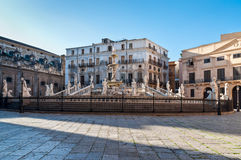 Fontana Pretoria in Palermo, Sicily, Italy Royalty Free Stock Photography