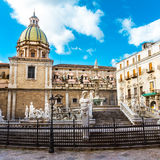 Fontana Pretoria in Palermo, Sicily, Italy Royalty Free Stock Image