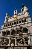 Fontana Prozerpin e città ha fotografia stock libera da diritti