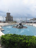 Fontana in Rapallo fotografia stock