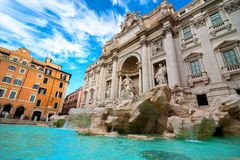 Fontana a Roma, Italia Immagine Stock Libera da Diritti